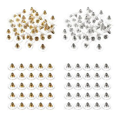 Lots 50Pc Gold/Silver Ear Nuts Earring Back Stopper Finding Useful DIY Jewelry A