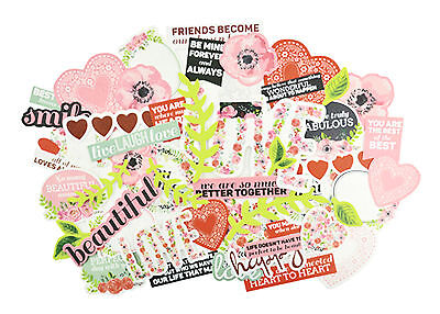 True Love Collectables Die Cut Shapes Kaisercraft 50+ Piece Pack