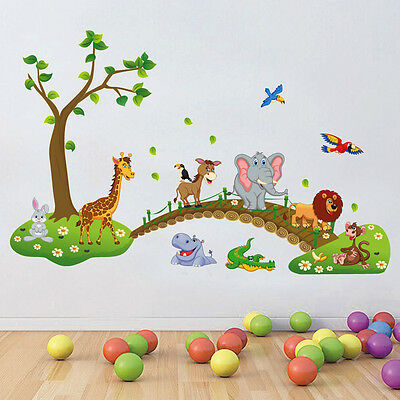 NewCute Animal Wall Stickers For Kids Room Decor DIY Art Decal Removable Sticker