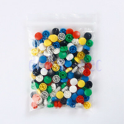 140pcs Round Mixed Color Tactile Button Caps Kit For 12x12x7.3mm Tact Switch DG