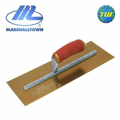 """Marshalltown 14"""" x 5"""" Permashape Finishing Trowel with Gold Series Stainless Ste"""