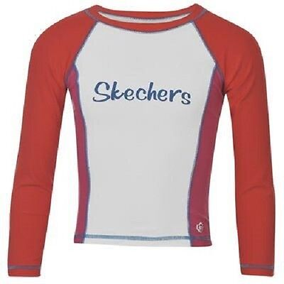 Baby Girls Skechers Swimming Top, Red/White, SIZES 12-18mths, 18-24mths