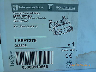 Telemecanique LR9 F7379 TeSys 056603 Thermal Overload Relay 300-500A Class10 New