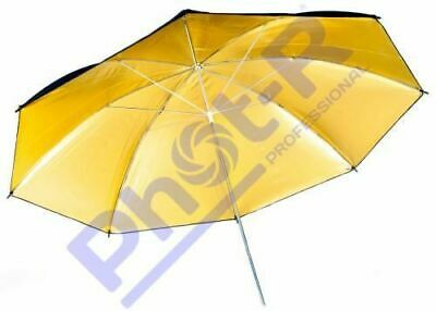 "Phot-R 43""/109cm Black/Gold Photo Light Studio Flash Diffuser Reflector Umbrella"
