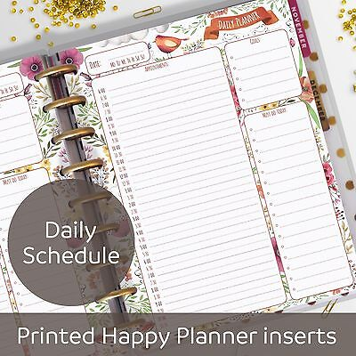 Daily planner inserts - Appointment Book - for Classic MAMBI Happy Planner