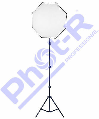 Phot-R 80cm Octagonal Photo Studio Softbox and 2m Adjustable Light Stand Kit