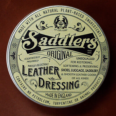 Saddlers Original Leather Dressing. All natural leather conditioner and balm