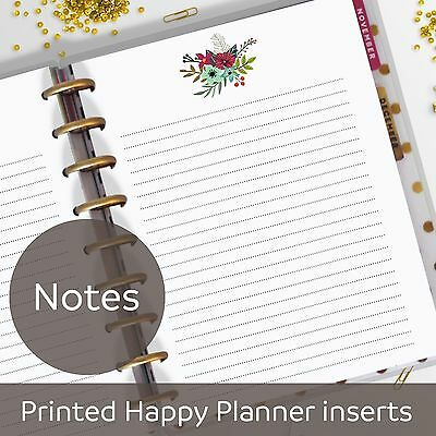 Notes Pages, Memo, Diary, Refill, Notes Inserts for Classic MAMBI Happy Planner