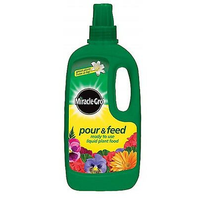 1L Scotts Miracle-Gro Pour And Feed For Plants Garden Food Containers Pots