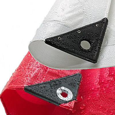 Super White & Red 200Gsm Waterproof Tarpaulin Covers With Eyelets Various Sizes