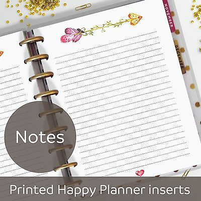 Arrow Notes Pages, Memo, Refill, Notes Inserts for Classic MAMBI Happy Planner
