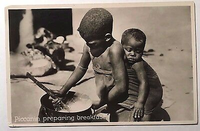 PICCANIN Cape Town South Africa Racist Photo Postcard 2 South African Children