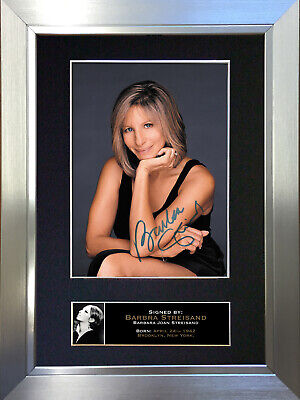 BARBRA STREISAND Signed Autograph Mounted Photo Repro A4 Print 225