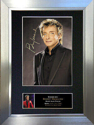 BARRY MANILOW Signed Autograph Mounted Photo Repro A4 Print 94