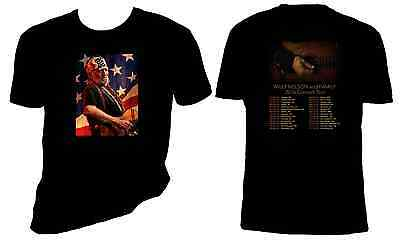 Willie Nelson 2016 Concert T shirt, Willie Nelson and Family, 5oz, Sizes S-6X