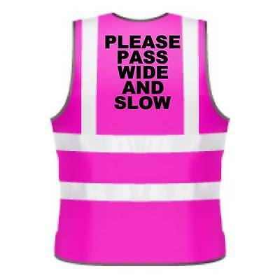 Kids Hi-Viz Printed Please Pass Wide And Slow Safety Wear For Horse Riding