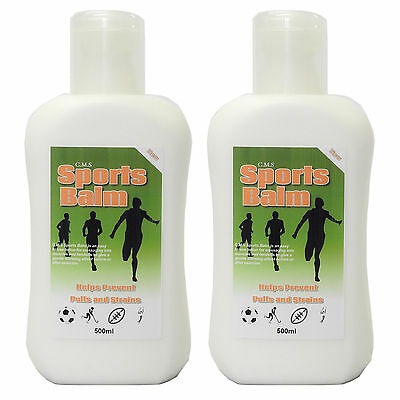 Twin Value Pack - C.M.S Muscle Warming Pre Sports Massage Balm Lotion 500ml
