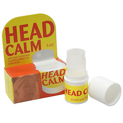 Twin Pack - Head Calm Soothing Cooling Headache Quick Pain Relief Forehead Rub