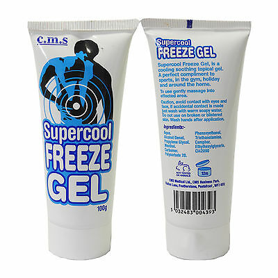 CMS Supercool Tropical Formula Premium Instant Pain Relief Freeze Gel 100g Tubes