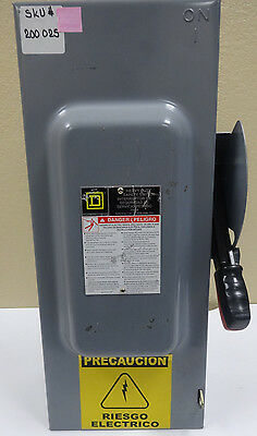 SQUARE D H363 Heavy Duty Safety Switch Fusible