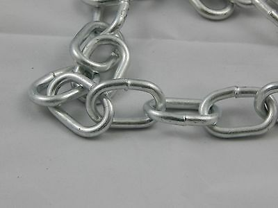 3/6in Welded Steel Chain 8ft lenghts, Lot of 9, 72 FT TOTAL