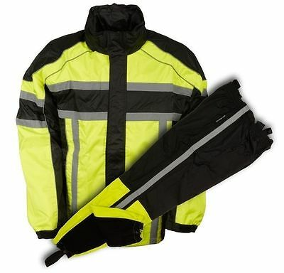 Men's Motorcycle Waterproof Rain Gear Rain Suit  Lightweight Yellow Combo