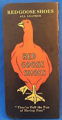 Old Antique Original RED GOOSE SHOES Advertising MEMO BOOK