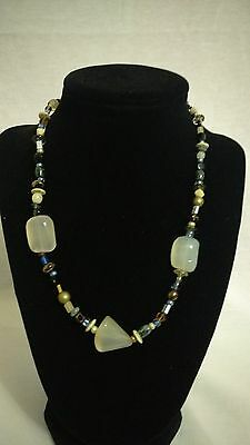 Vintage BOHO bead stone look necklace