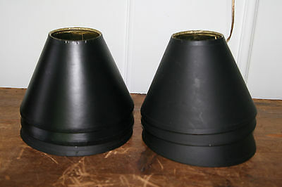 Vintage Mid Century/ Hollywood Regency Black AND Gold Lamp Shades