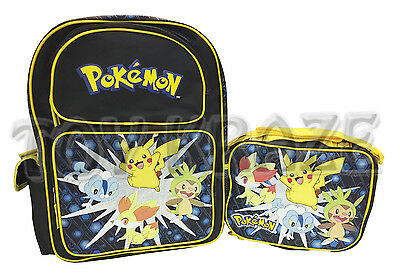 cc9870a7f20 Pokemon Backpack   Lunch Box Set! Black Yellow Explosion Large 16
