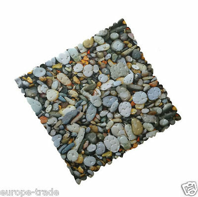 PVC Stone Pebble Design Strong Suction AntiNonSlip Bathroom Shower Mat Square