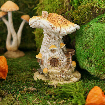 Miniature Dollhouse FAIRY GARDEN - White Mushroom Fairy House - Accessories