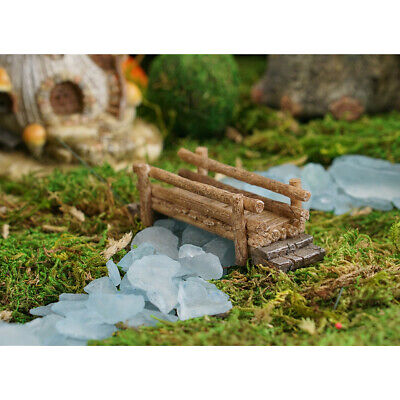 Miniature Dollhouse FAIRY GARDEN - Wooden Bridge - Accessories
