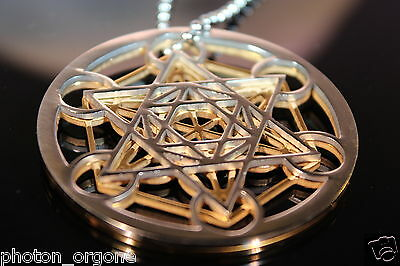 Metatrons Cube Clearing & Protection Sacred Geometric Symbol Pendant