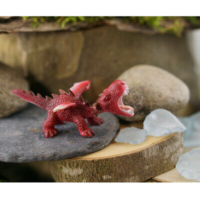 Miniature Dollhouse FAIRY GARDEN - Mini Red Dragon Roaring - Accessories