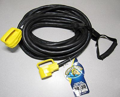 Camco 55197 30 AMP 50' PowerGrip Extension Cord FIFTY FOOT w/ Carry Handle