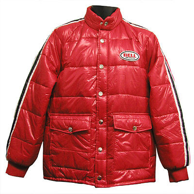 Bell Retro Vintage Puffy Puff Jacket Coat Red Black Adult Men's XLarge XL