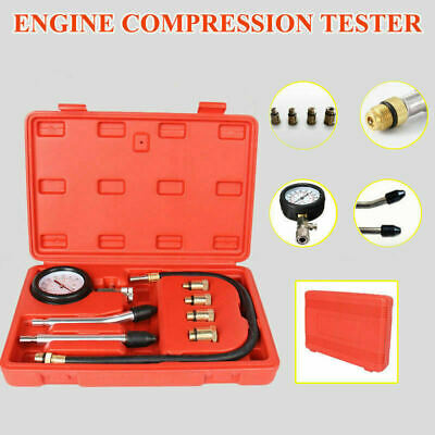 AU SHIP Petrol Engine Compression Tester Kit Tool Set For Automotives Motorcycle