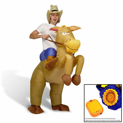 Inflatable Horse Cowboy Suit Halloween Fun Fancy Party Adult Dress Costume AU