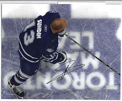 Mats Sundin Toronto Maple Leafs Signed Autographed 8x10