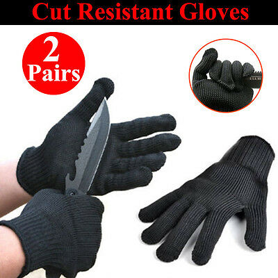 2x Pair Safety Works Anti-Slash Stainless Steel Resistant Cut Proof Gloves AU