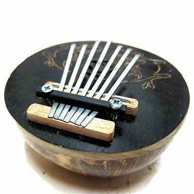 Black Coconut Shell 7 Keys Tunable Mbira Kalimba Karimba African Thumb Piano