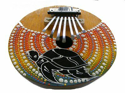 Coconut Shell Painted Turtle Tunable Mbira Kalimba Karimba African Thumb Piano