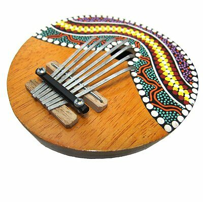 Coconut Shell Painted 7 Keys Tunable Mbira Kalimba Karimba African Thumb Piano