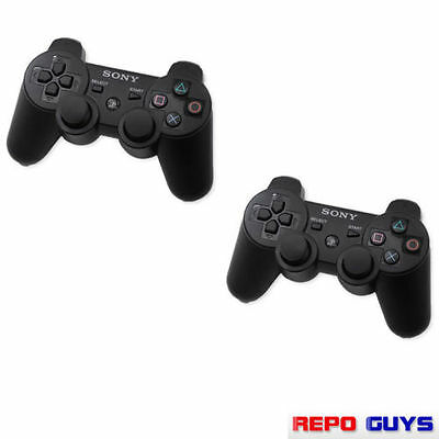2 X PS3 Controller Genuine Sony Dualshock Official Wireless Controller for PS3
