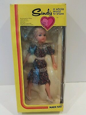 Vintage Marx Toys 1978  Blonde SINDY Doll A Whole World to Share New In Box