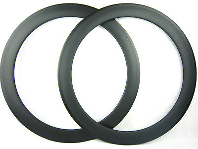 20.5mm width 60mm clincher carbon fiber bike rims,one pair,for 700C road racing