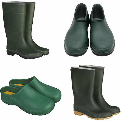 Briers Traditional Garden Footwear Green Wellies Clogs And Shoes Various Sizes