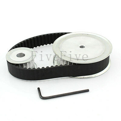 HTD5M 40/20 Teeth Wide-16 Pitch-5mm Timing Pulley Belt set kit Reducer Ratio 2:1