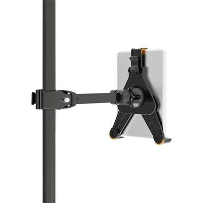 Mic Microphone Pole Music Stand Mounting Clamp | iPad 1 2 3 4 5 Air or 8.9-10.4""